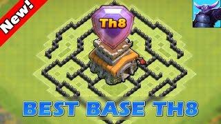 getlinkyoutube.com-Clash Of Clans - TH8 FARMING BASE! / CoC BEST TOWN HALL 8 HYBRID BASE DEFENSE 2016!