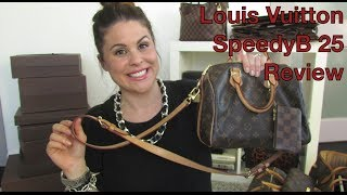 getlinkyoutube.com-Louis Vuitton SpeedyB 25 review