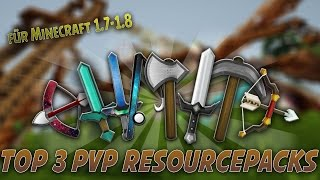 Top 3 Minecraft PvP Resource Packs [Minecraft 1.7/1.8 Texture Packs] - 2015 [HD]