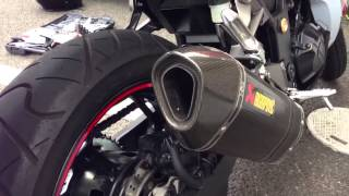 getlinkyoutube.com-2013Ninja250 akrapovic バッフル無し