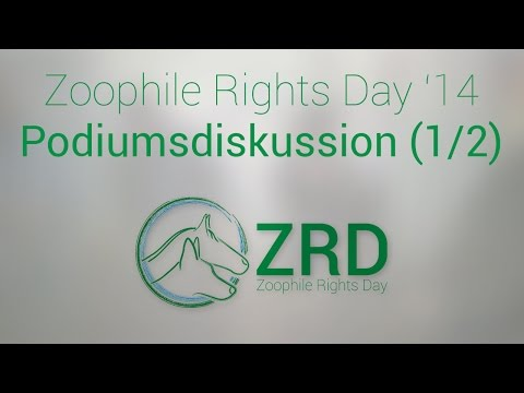 Zoophile Rights Day Podiumsdiskussion 1
