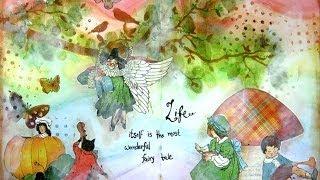 getlinkyoutube.com-Mixed Media Art Journal Page:  Fairy Tale