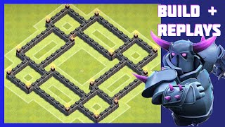 getlinkyoutube.com-New BEST Th6 War/Trophy Base (Build+Replays)   The Royal   Anti-Giant & Hog - New Update Xmas