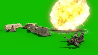 getlinkyoutube.com-Green Screen War Soldier Escapes Grenade Explosion - Footage PixelBoom