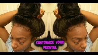 getlinkyoutube.com-Most Natural Lace  Frontal EVER| How to Customize Your Lace Frontal #Glueless| KennySweets