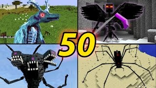 TOP 50 Minecraft  Monster Mobs - Best Minecraft Mods [ 2016 MOD ]