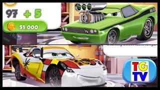 getlinkyoutube.com-Disney Cars 2 Screen Race Neon Tuner VS World Grand Prix | Cars Fast as Lightning