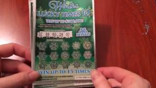 getlinkyoutube.com-New $5 Winter Lucky Times 10 - Michigan Lottery - 12/8/16