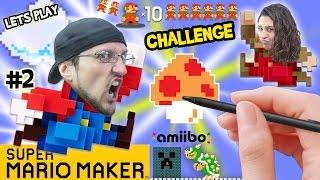 getlinkyoutube.com-Lets Play SUPER MARIO MAKER! Dad vs. Mom 10 Mario Challenge & Brick Busting FGTEEV Fun