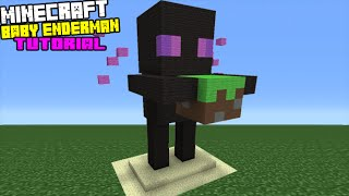getlinkyoutube.com-Minecraft Tutorial: How To Make A Baby Enderman Statue