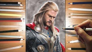 getlinkyoutube.com-Speed Drawing: Thor - Chris Hemsworth