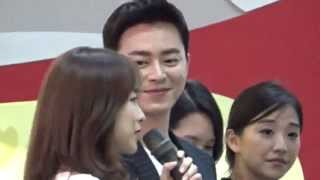getlinkyoutube.com-150904 Jo Jung Suk & Park Bo Young @ West Mall Oh my Ghost Meet & Greet