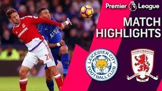 getlinkyoutube.com-Leicester City draws Middlesbrough off Islam Slimani's penalty shot goal