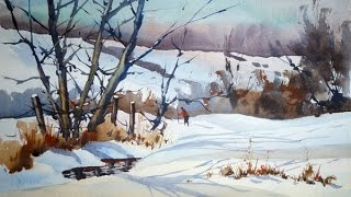 Painting a Snow Scene in Watercolour