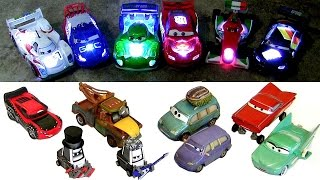 16 NEW CARS 2 Diecasts NEON Light-up Chaser + Cars Heavy Metal Mater Silver Lightning McQueen 2015