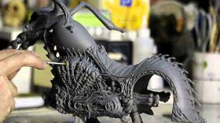 getlinkyoutube.com-The Making of Hot Toys Ghost Rider with Hellcycle Limited Edition 12 Inch Figure
