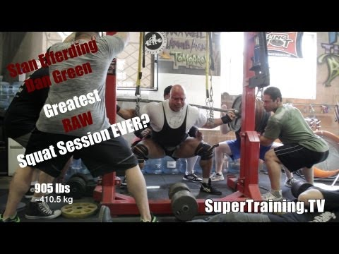 Efferding 905 and Green 800 - Greatest Raw Squat Session