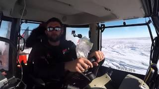 Day 12 of Antarctica2: Nicolas talking from the MF 5610 cab