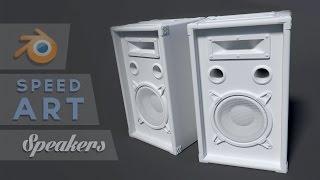 getlinkyoutube.com-Blender Speedart - Modeling a speaker (Part 1/2)