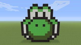 Minecraft Pixel Art -  Yoshi Head