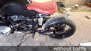 getlinkyoutube.com-BMW r ninet exhaust comparison: Stock vs Competition Werkes