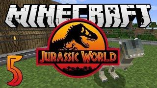 "getlinkyoutube.com-Minecraft: Jurassic World - Ep. 5 - ""Carnotaurus Dinosaur!"" (Rexxit Modpack)"