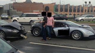 getlinkyoutube.com-Bugatti Veyron попал в аварию после шоу Автоэкзотика 2013