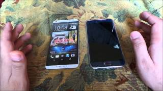 getlinkyoutube.com-مقارنة بين هاتف Samsung E7 وهاتف htc 816g