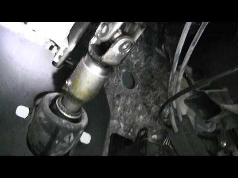 Mitsubishi Pajero 4 устраняем скрип рулевого вала