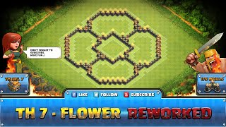 getlinkyoutube.com-★ Clash of Clans Troll Base ★ TH7 - Flower Defense, Hybrid