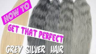 getlinkyoutube.com-How to get grey / silver hair / 6 ways. Full step by step tutorial