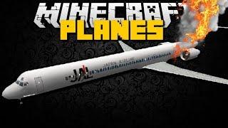 getlinkyoutube.com-Minecraft: PLANE MOD (Plane Crash, Helicopters, Military Planes, Private Jets) Mod Showcase