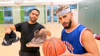 1 on 1 BASKETBALL GAME FOR 2 PAIRS OF YEEZYS!!!!