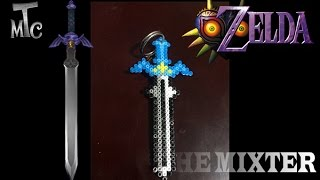 getlinkyoutube.com-Espada De Hama Beads | Como Hacer Un Llavero De Espada (Zelda Majoras Mask) | The Mixter Games