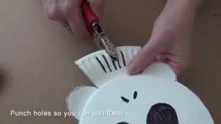 getlinkyoutube.com-How to make a paper plate skeleton