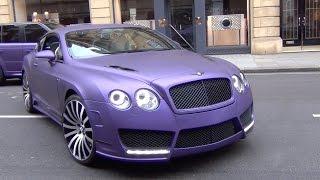 getlinkyoutube.com-Purple Mansory Bentley Continental GT - Custom 1 of 1 Supercar in London