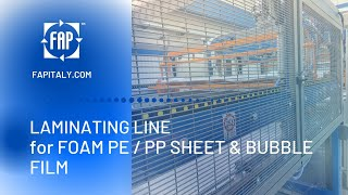 Laminating Lines for Foam PE-PP and Bubble film