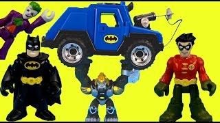 getlinkyoutube.com-Imaginext Batman saves Robin from Joker Gorilla Grodd & Bane Gotham city Superheroes Just4fun290