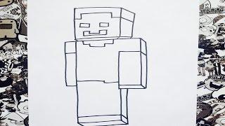 getlinkyoutube.com-Como dibujar a herobrine | how to draw herobrine