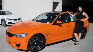 "getlinkyoutube.com-2016 BMW M3 Fire Orange / 19"" Black M Wheels / Exhaust Sound / BMW Review"