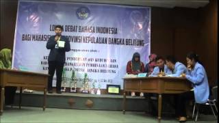 getlinkyoutube.com-Video Final Lomba Debat Bahasa Indonesia Mahasiswa Babel 2015