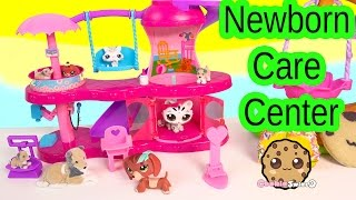 getlinkyoutube.com-Puppy in My Pocket Newborn Baby Care Center Playset & Littlest Pet Shop Mom Babies Play