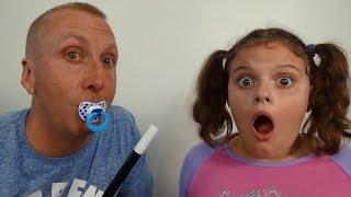"getlinkyoutube.com-Bad Baby Freak Daddy & Victoria ""Toy Freaks Messy Annabelle"""