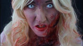 getlinkyoutube.com-ZOMBIE BARBIE  ||  Halloween Makeup Tutorial