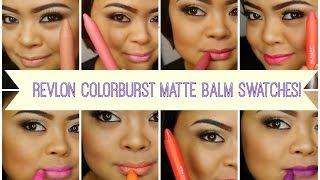 getlinkyoutube.com-Review & Swatches Pt. 1 //  Revlon Colorburst MATTE Balms // villabeauTIFFul
