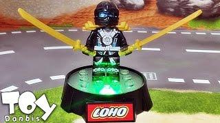 getlinkyoutube.com-loho 닌자고 티타늄닌자 쟌 led 디스플레이 발판 야광 레고 짝퉁 미니피규어 lego knockoff ninjago titanium ninja jane display