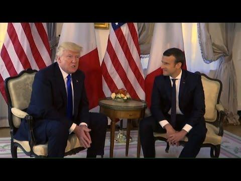 Trump rencontre Macron et loue sa