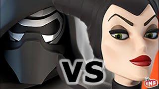 getlinkyoutube.com-Kylo Ren vs Maleficent sarlacc pit arena fight Disney Infinity toy box