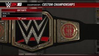 getlinkyoutube.com-WWE 2K16: Custom Sideplates (Create A Championship)