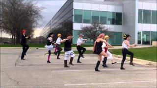 getlinkyoutube.com-Bad Apple Cosplay Dance Group